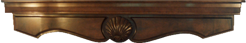 hand-carved fireplace mantle